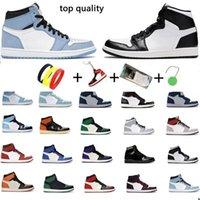 Dunks Jumpman 1 Basketball shoes 1s for Men Women sports sneakers High Dark Mocha Black Metallic Gold UNC Light Smoke Grey Chicago royal toe mens trainers with socks