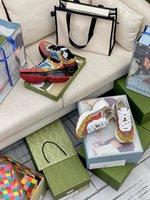 2021 Дизайнер Роскошные Обувь Мультицветные серии Rhton Мужчины Женщины Женские Повседневная Обувь Кроссовки с коробкой размером 35-45