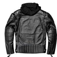 Zvaqs 100% véritables vesticiales hommes vestes cuir hotte Vintage rétro véritable veste en cuir véritable mâle mode moto manteau 5xL19097 x0721