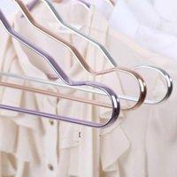 الفضاء شماعات الألومنيوم سبيكة لا تتبع الملابس دعم الملابس المنزلية المضادة للانزلاق شنقا windproof الصدأ مقاوم القماش الرف owb7256