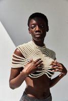 Women's Polos Wedding Pearl Shawl Handmade Beaded Dress Tassel Decorated Shoulder Chain Cloak Luxury Jewelry