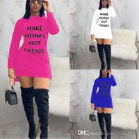 Spring Autumn Designers Womens Hooded Dresses Fashion Sexy Offset Letter Printed Long Sleeve Solid Color Fashion Sports Skirt Plus Size