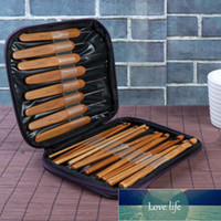 20Pcs Bamboo Crochet Hooks Set Baby Knitting Needles DIY Weave Needle Craft Tool with Bag Knitting Sewing Accessories