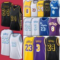 Noir Mamba Lebron 23 6 James LBJ Jersey Basketball Anthony 3 Davis 4 Caruso 32 Johnson