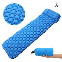 Outdoor Pads Air Mattress Camping Sleeping Mat Inflatable Cushion Quick Moisture-Proof Travel Pad Folding Bed