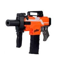 Automatic Electric Soft Bullet Toy Gun Launcher Weapon Outdoor Armas Orange Plastic Machine CS Shooting Game
