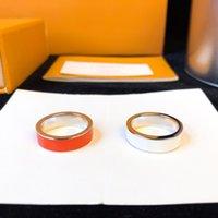 2021 Klassische echte Brief Liebe Ring Gold Silber Rose Farben Edelstahl Paar Ringe Mode Designs Frauen Schmuck