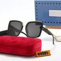2353 Beliebte Frauen Mode UV400 Sonnenbrillen Square Sommer Stil Full Frame Top Qualität UV-Schutz 0083 Sonnenbrille Mischfarbe Kommen Sie mit Box