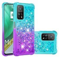 Оптовая цена мобильных телефонов чехлы блеск жидкость Quicksand красочные алмазные крышки для xiaomi mi11 10t pro lite m3 x3