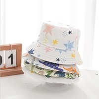 Fishman قبعات خربشة قبعة واسعة بريم القبعات القطن الشمس خوذة ظلة الرأس القبعات الأطفال الصيف فتاة القبعات مصممي 10 ألوان OWC6926