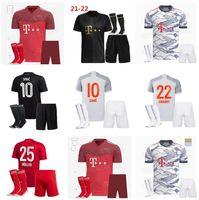 20 21 Sane Lewandowski Gnabry Davies Soccer Jersey 2021 كرة القدم قميص كومان Nianzou Munchen Kimmich Munichi Kids Kits Socks Offe