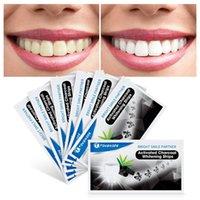 Bandes de blanchiment dentaire dents de blanchiment dents de charbon de bois de blanchiment dentaire Kit d'hygiène orale Bandelettes de soins pour fausses placages dents Dentist Tools