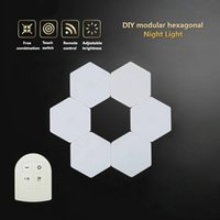 Quantum Lamp Touch Night Light Battery Operated DIY Modular Hexagon Wall Lamps Remote Control Cupboard Wardrobe Bedside Cabinet Lights