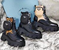 2021 Высочайшее качество Rois Martin Boot Woman Bandkle Натуральная кожа Военные боевые модели Модели платформы Сумки для платформы Тройная коровьей мотоцикла