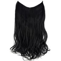 Synthetic Wigs TOPREETY Halo Hair Wavy Invisible Elastic Wire Hidden Hairpieces No Clip Heat Resistant Fiber TPYLW90
