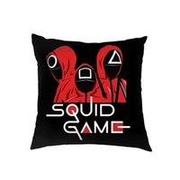 45*45CM The Squid Game Pillow Case Home Sofa Car Throw Pillows Cushion Covers Cartoon Print TikTok Trendy Party Ornament Linen Pillowcases Comic Related G1111AH0