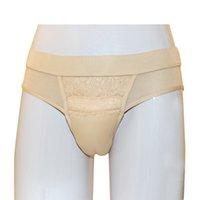 Hete verkopende nieuwe stijl cosplay shemale ondergoed vrouwelijke nep vagina slipje voor mannen cross dresser slips
