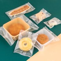 Gift Wrap 100pcs Matte Plastic Bags For Cookie Packaging Candy Mooncake Multi Size Machine Sealing Bag Sachets Small Business Supplies