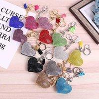 Şeker Renkler Matkap Aşk Kalp Şeklinde Anahtarlık El Sanatları Aksesuarları Püskül Çanta Anahtarlık Kolye Takı Ev Dekor El Yapımı DIY Malzemeleri G641V77