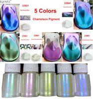 Tırnak Glitter 5 Renkler Vites Aynası Bukalemun Sedefli Mika Pigment Epoksi Reçine Sihirli Discolor Toz Için DIY Makyaj Sanatı FacePainting