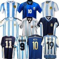 1994 1978 1986 1998 2006 Argentinien Maradona Home Fussball Jersey Retro Version 86 78 Maradona Caniggia Quality Football Hemd Batistut