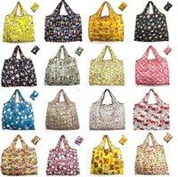 Grande Épicerie réutilisable Nylon imperméable de stockage pliable sac de rangement écologique sacs à provisions lavables
