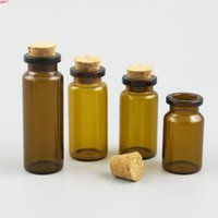 500 x 5ml 6ml 7ml 8 ml 10 ml de bouteille de verre ambre de 50 ml de 50 ml de 50 ml de 50 ml de 35 ml avec du liège 1 / 2oz brun flacons de flacons de conteneur