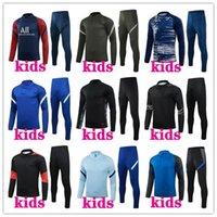 Kinder 2021 Fußball Trainingsanzug Fussball Training Anzug 20/21 Football Kits Survetement Langarm Joggingjacke
