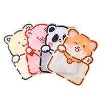 4 Styles Cute Cartoon Bear Snack Bag Self Sealing Bag Hand Baked Food Package Small Fine Zipper Bag RRD7711