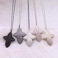 """Strand Cross Flower Necklace Wholesale Jewelry 18"""" Costume Stone Gems Gift For Women 3517 Chains"""