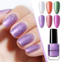 Vernis à ongles Nicole Diary Violet Dark Mat Couleur Pas de pelage Débutant Couleurs Séchage d'air Naturel Art Diy Design