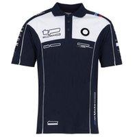2021 Summer F1 Formula T-shirt demi-manches Polo Shirt Team Racing Costume Custom Customcycle GP Jersey