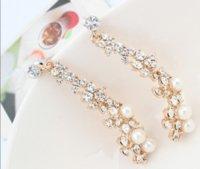 European American Boutique Boutique Ladies Pearl Orecchini da donna Donne lunghe orecchini dorati 10prs Diamond Stud PS2883