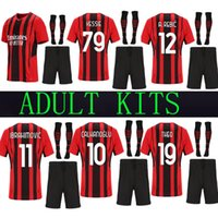 Mandzukic SD 21 22 AC Home Erwachsene Kits Sets Fussball Trikots Milan 2021 # 11 2122 20 Ibrahimovic Paqueta Bennacer Rebic Romagnoli Torwart Donnarumma Set Shirt