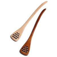 عسل خشبي ضجة عصا طويلة مقبض الجوف خارج التحريك ملعقة صديقة للبيئة الخشب العصي المطبخ مطعم ملاعق الطعام GWA8474
