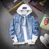 E-BAIHUI UOMO Giacca Denim Streetwear Hip Hop Hoeld Jean Giacche maschio Casual Casual Abbigliamento allentato 2021 Molla Moda Slim Fit Coat