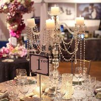Candle Holders Stand Party Decoration Metal Holder Acrylic Wedding Candlestick Candelabra