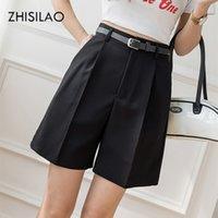 Жисилао сплошные каприцы плюс размер женщин летом женское стрейч длина колена Blaze шорты свободные брюки OL Office Pantacourt