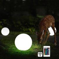 Ricaricabile LED Piscina Lampada a sfera galleggiante impermeabile Indoor Outdoor Home Giardino Da Giardino Da Wedding Lampade da giardino KTV Bar