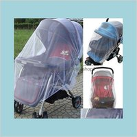 Wholesale-Infants Baby Stroller Pushchair Cart Mosquito Insect Net Safe Mesh Buggy Crib Netting Kids Maternity Nursery Bedding Cr Haime
