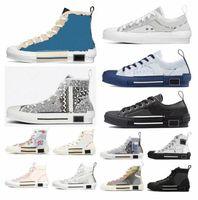 고품질 디자이너 신발 B23 경사 낮은 탑 망 운동화물 B24 기술 캔버스 가죽 여성 캐주얼 구두 Luxurys 트레이너 운동화 3gjkl #