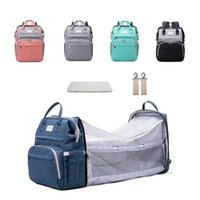 Diaper Bags Design 3 In 1USB Bag Baby Crib Foldable Sleeping Bed With Changing Pad Sunshine Shade Nappy Stroller Pocket For