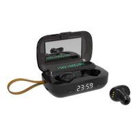 M13 Bluetooth 5.1 Kablosuz TWS Dokunmatik Müzik Spor Koşu Kulak Stereo Kulakiçi HD Çağrı Fener Saat Ayna Kordonlu HD Çağrı Su Geçirmez Kulaklıklar
