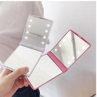 DHL бесплатно 8 светодиодных световых макияжа зеркала настольные портативные компактные подсветки для перемещения 6 цветов в наличии Батарея не включены