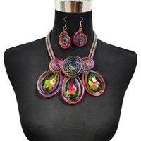 Earrings & Necklace Boho Handmade Statement Set For Women Big Crystal Choker Vintage African Jewelry Sets Maxi Collar Accessories 2022 UKEN