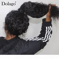 Curly 360 Perruque frontale en dentelle avec des cheveux de bébé Vague profonde Bob Transparent 13x6 Dentelle Dentelle Frontière Human Hair Perruques 370 Fake Scalp Full Dolago