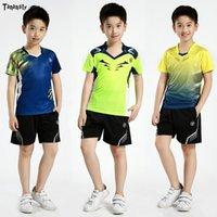 Neue Badminton T-shirt Jungen Sportuniform Kinder Tenis Mujer Kindertisch Tennis Sets Tennishemd mit Shorts Mädchen Laufender Kleidung