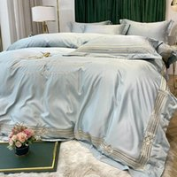 100% Silk Super Soft Bedding Set Luxury Full Size Bed Frame 220X240cm Queen 4 Pcs Sets