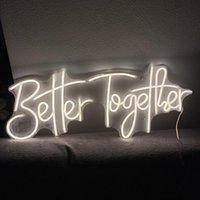 다른 조명 전구 튜브 네온 사인 더 나은 더 나은 LED 플렉스 레터 보드 결혼식 파티 야외 실내 ins 벽 매달려 홈 룸 D