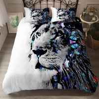 Wild Lion King Printed Bedding Set Home Textile Decorative Animal Duvet Cover Pillow Case Single Double Bed Extra Large Sets